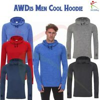 AWDis Men's Cool Cowl Hooded Sweatshirt Sports Casual Leisure Pullover Hoody TOP