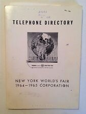 Original NY World's Fair Corporation 1964-1965 Telephone Directory (Unisphere)