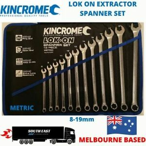 KINCROME LOK-ON EXTRACTOR SPANNER SET 8mm-19mm FOR GRIPPING ROUNDED BOLTS K3999