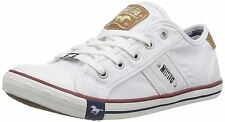 Mustang Canvas Lace up SNEAKERS Low Shoes White Rubber Sole 1099 6