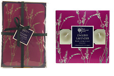 Pack of 3 RHS Lavender 2 Scented Sachets 9 Scented Tealights by Wax Lyrical