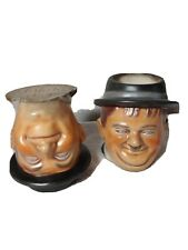 Duncan Ceramic 1973 Laurel And Hardy Coffee Cups 1984 Natalia