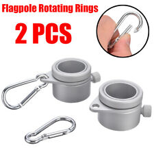 1 Pair Alloy Flag Pole Rotating Rings Clip Anti Wrap Grommet Mounting Tool HOT