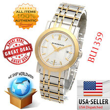 100% Authentic Burberry Women's BU1359 Heritage Two Tone Bracelet Watch