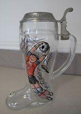 Football Soccer Tournament West Germany Beer Mug Boot Theodor at gate Goalkeeper