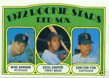 Topps 1972 Rookie Stars /Garman, Cooper, & Fisk Card