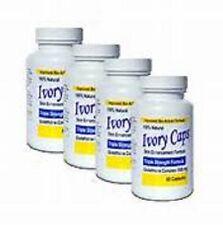 4 IVORY CAPS glutathione skin whitening 1500mg vegan exp 3/2020