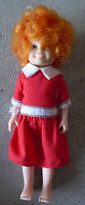 "Vintage 1982 Knickerbocker Vinyl Plastic Anne Girl Character Doll 5 3/4"" Tall"