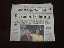 Washington Post Commemorative Edition President Obama January 21, 2009 Newspaper
