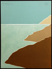 """Peter Keefer """"Seascape XXXVIII"""" Hand Signed & Numbered Collagraph Fine Art Print"""