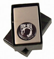 WINDPROOF FLIP OPEN TOP POW MIA OIL LIGHTER flint G12p