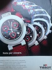 ADVERTISING PUBBLICITA' Orologio tissot Martini rancing      -1992 (nn)
