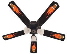 "New HOT FLAMES FOOTBALL SPORTS Ceiling Fan 52"""