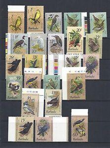 BARBADOS 1979-81 BIRDS definitives (Sc 495-511 + 1982 values SC 570-2) VF MNH