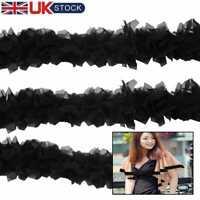 Black Chiffon Lace Edge Vintage Trim Ribbon for Embellishment Clothing 50mm