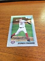 STEPHEN STRASBURG 2010 BOWMAN CHROME CARD #BCP-1 NATIONALS (FIRST ROOKIE)