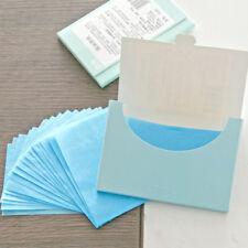 2Pcs Papier Matifiant Contrôle Huile Faciale Feuille Absorbant Couleur Aléatoire