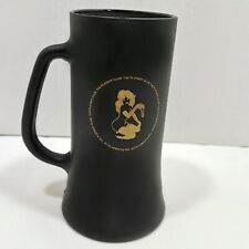 Vintage The Playboy Club Black Matte Finish Gold Key Mug Stein 60's 70's