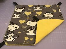 New Flat Fully Quilted Hammock For Rats+small Animals. SNOOPY + YELLOW FLEECE