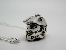 HALO helmet necklace sterling silver 925 Master Chief Halo 3 4 5 video game gift