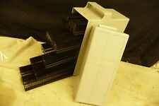 Slide projector cassette trays X10 +box takes 500 slides FOR LEITZ