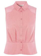 Miss Selfridge Pink Sheer Button Tank Sleeveless Top - BNWT - Size UK 12