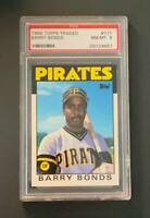 1986 Topps Traded #11T Barry Bonds XRC Rookie PSA 8 NM-MT Pittsburgh Pirates