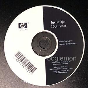 Setup CD ROM for HP Deskjet 3600 Series Software for Windows and Mac 3631 3630
