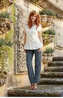 New Matilda Jane Women's SIZE XS S M L Hello Lovely Blue Blossom Pants NWT