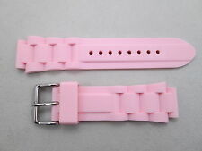 Genuine Freelook lady's 18mm lug size rubber watch band strap pink