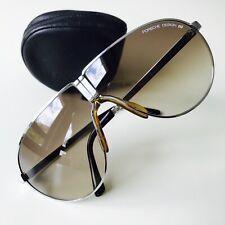 vintage PORSCHE DESIGN 5622 by Carrera folding sunglasses silver SCARFACE