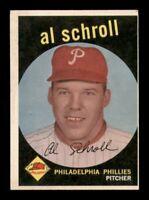 1959 Topps Set Break # 546 Al Schroll VG-EX *OBGcards*