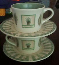 2 PFALTZGRAFF NATUREWOOD Coffee Cups and SAUCERS