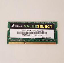 Corsair 4gb cmso 4gx3m1a1333c9 ddr3 pc3-10666 1333mhz RAM Memory memoria