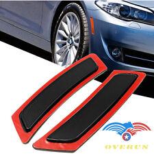 For 2011-16 BMW F-10 5-Series Dark Smoke Bumper Side Marker Deflector Reflector