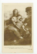 Antique Leonardo DaVinci RPPC Virgin & Child with St. Anne—Louvre Painting Photo