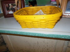 Longaberger 2017 Yellow Colors of Spring Basket Set  with divided Protector