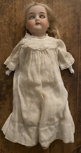 """Antique Armand Marseille 15"""" Bisque Head Leather Body Doll #370 With Sleep Eyes"""