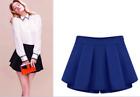 US STOCK  Fashion Women  s Teen Casual Chiffon High Waist Min Skirt Shorts 099a