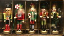 Nutcracker Ornament Set - Wooden - Pier 1 - 2017 Collection - Brand New