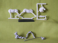 A35  WARHAMMER EMPIRE KNIGH 1ST VERSION WHITE WOLF  METAL MODEL 1980S OOP