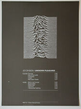 Joy Division 'Unknown Pleasures' - vintage poster