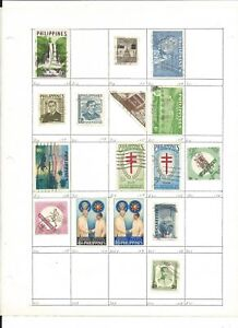 Philippines Collection on 13 Pages, All Different Neatly Identified Lot