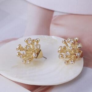 Alexis Bittar Crystal Burst Gold Plated Stud Earrings