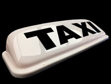 "HACKNEY / PRIVATE HIRE TAXI CAB ROOF SIGN 24"" WHITE MAGNETIC TOP LIGHT BOX LED"