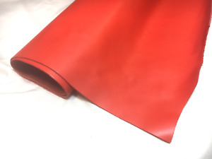 SMOOTH Finish RED Leather Hide offcuts off cut remnant Upholstery garment