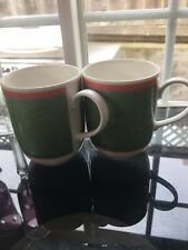 VILLEROY & BOCH TIPO VIVA GREEN COFFEE MUG SET OF 2