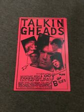 "The Talking Heads B-52's 1978 U.C. Davis Cardstock Concert Poster 12"" x 18"""