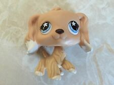 Littlest Pet Shop RARE Cocker Spaniel Dog 568 ROUND Yellow White Dipped Ears