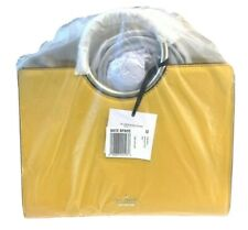 Kate Spade White Rock Road Primrose Yellow Leather Gold Ring Handle Sam Bag RARE